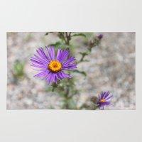 Purple Wild Flower Rug