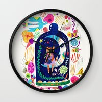 Little fox in Secret place Wall Clock