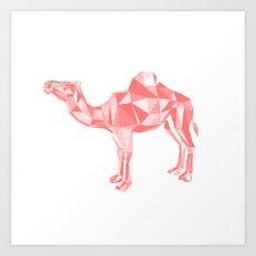 Red mirage Art Print
