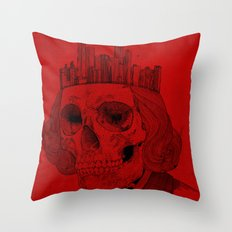 untouchable city Throw Pillow