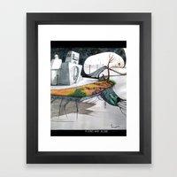 A long way alone. Framed Art Print