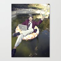 Work Ethics Be Damned Canvas Print