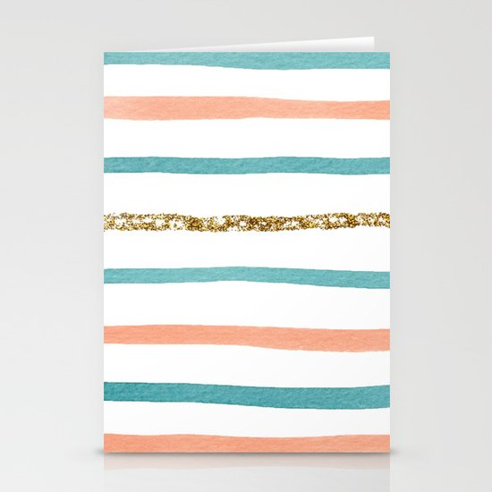 Sparkle Stripe Stationery Card
