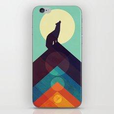 Howling Wild Wolf iPhone & iPod Skin