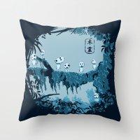 Kodamas Throw Pillow