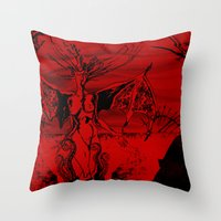 A Vampire Throw Pillow