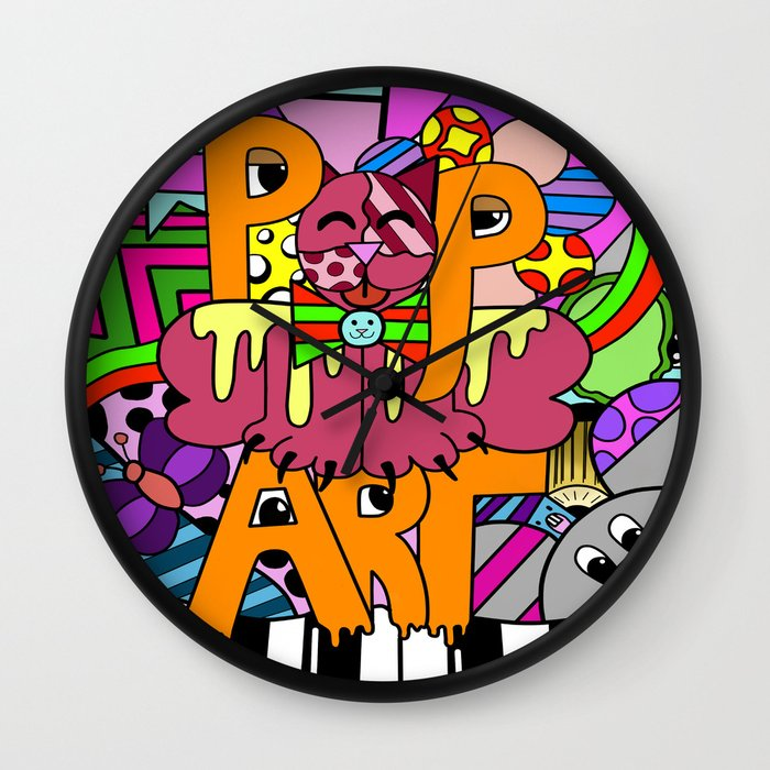 Pin pop art clocks decor howie green gallery on pinterest for Pop wall art