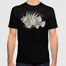 fish mirage chartreuse Mens Fitted Tee Black SMALL