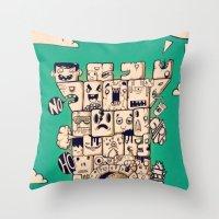man castle Throw Pillow