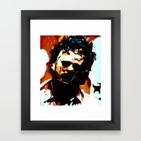 Leatherface Framed Art Print
