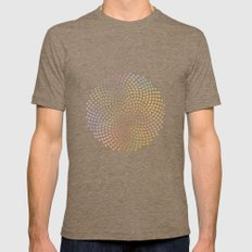 Spiral Dots Mens Fitted Tee Tri-Coffee SMALL