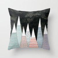 Pastel Peaks Throw Pillow