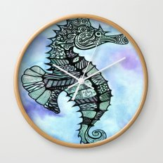Tatoo Seahorse Wall Clock