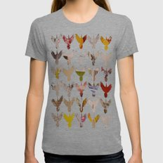 Birds Womens Fitted Tee Tri-Grey SMALL