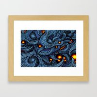 Infection colored Framed Art Print