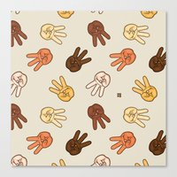 Hiii Power Hand Sign (re… Canvas Print