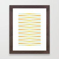 Stripes In Blue & Orange Framed Art Print