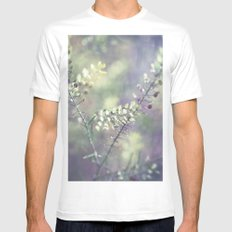 Abstract Magic SMALL White Mens Fitted Tee