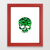 Triangle Camouflage Skull (WITHE) Framed Art Print
