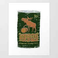 Moosey Malt Art Print