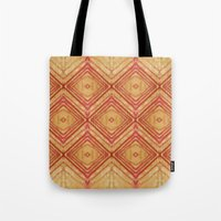 Watercolor Diamond Pattern Tote Bag