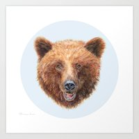 Brown Bear portrait Art Print