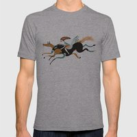 flying Mens Fitted Tee Athletic Grey SMALL