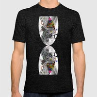 Psychoactive Bear 7 Mens Fitted Tee Tri-Black SMALL