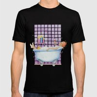 Bathtub Joy Mens Fitted Tee Black SMALL