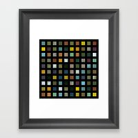 Rustic Wooden Abstract L… Framed Art Print