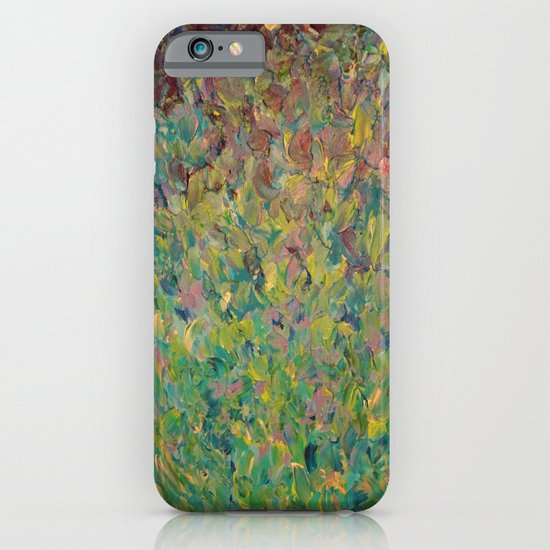 FIELDS OF BLUE - WOW Modern Abstract Shades of Blue and Green in Nature Theme Grass Waves iPhone & iPod Case