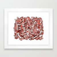 City Machine Framed Art Print