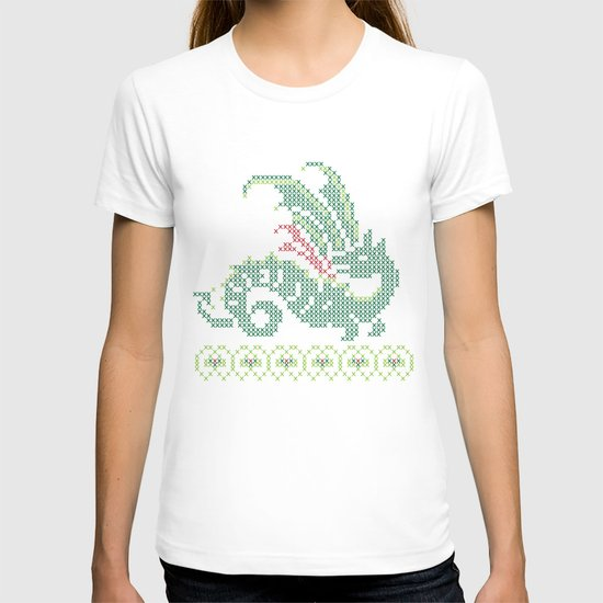 Dragon cross stitch T-shirt
