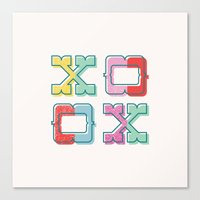 Color-Blocked XOXO Canvas Print