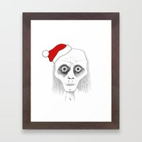 Tired Santa Framed Art Print