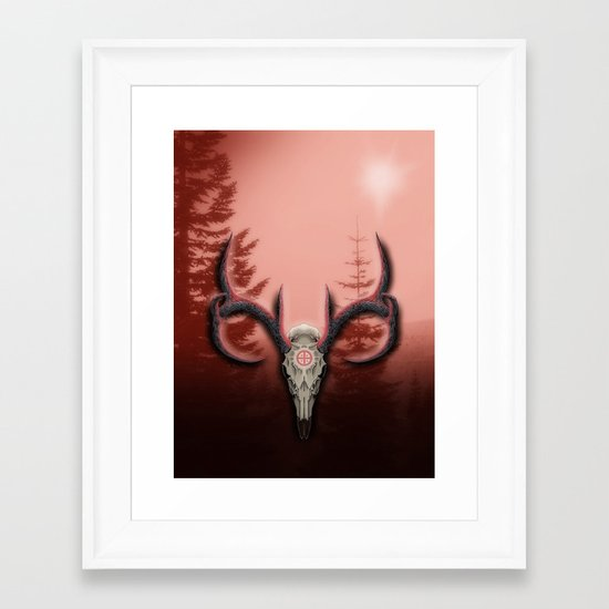 Warm Horns Framed Art Print