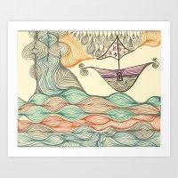Hundertwasser's Last Voy… Art Print