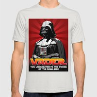 Darth Vader - Star Wars Mens Fitted Tee Silver SMALL
