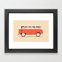 Red Van Framed Art Print