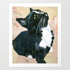 Lady Speedstick Kitty Art Print