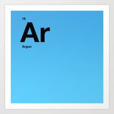 Argon Art Print
