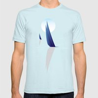 Night Sail Mens Fitted Tee Light Blue SMALL