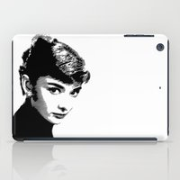 Audrey Hepburn Black and white iPad Case