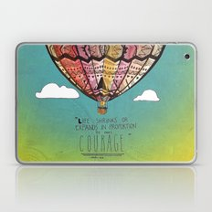 Life Expands quote Laptop & iPad Skin