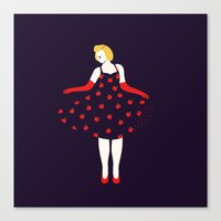 Apple Girl Canvas Print