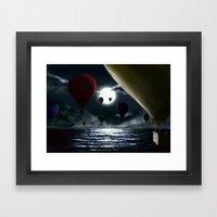 Crossing The Ocean. Framed Art Print