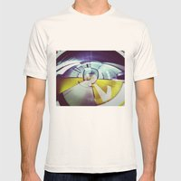 Empty Station-Abstract Mens Fitted Tee Natural SMALL