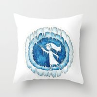 Frozen Girl Plays Yo-Yo Throw Pillow