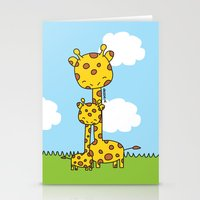 Giraffe Hugs Stationery Cards