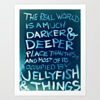 Jellyfish & Things Art Print